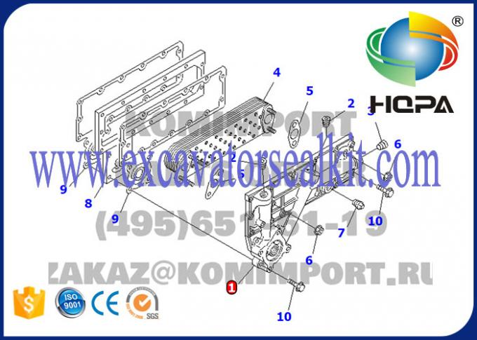High Precision Excavator Engine Parts , Komatsu 6D95 Oil