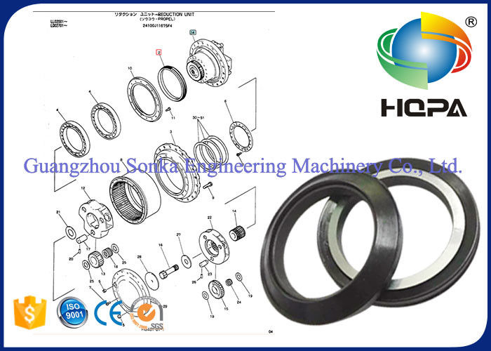 Kobelco MD200 Floating Oil Seal Standarded Size With 60 90 Shore A Hardness